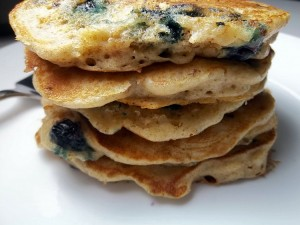 blueberry graham pancakes 3