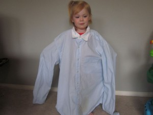 Upcycled Shirt Toddler Dress 004