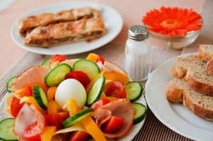 vegetable-egg-salad-and-toast
