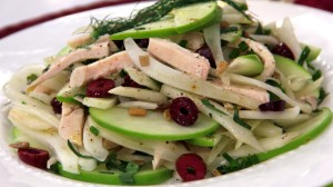 fennel-apple-and-chicken-salad-with-mint-and-basil